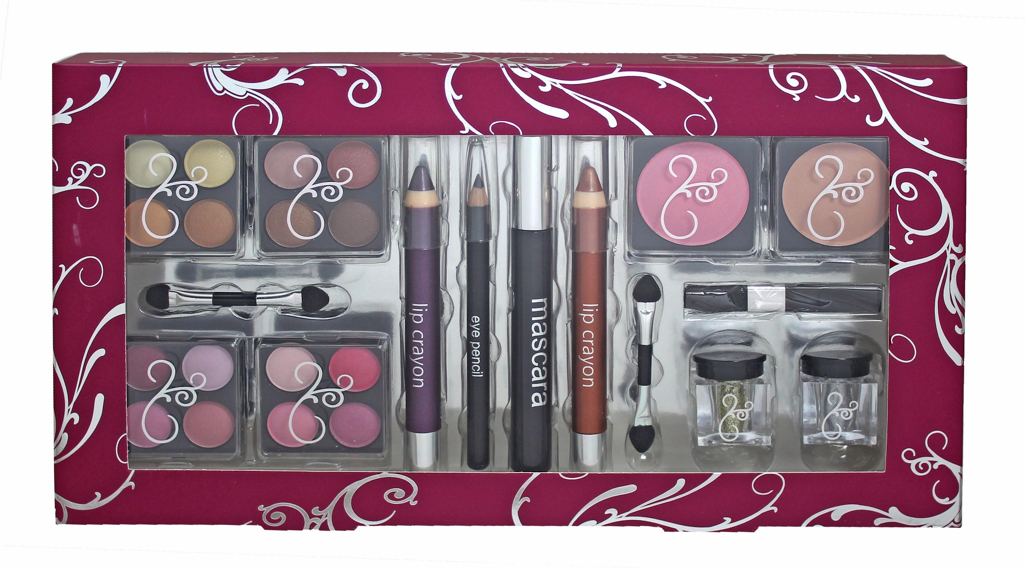 »Glamorous'« Geschenkbox gefüllt mit Kosmetikartikeln