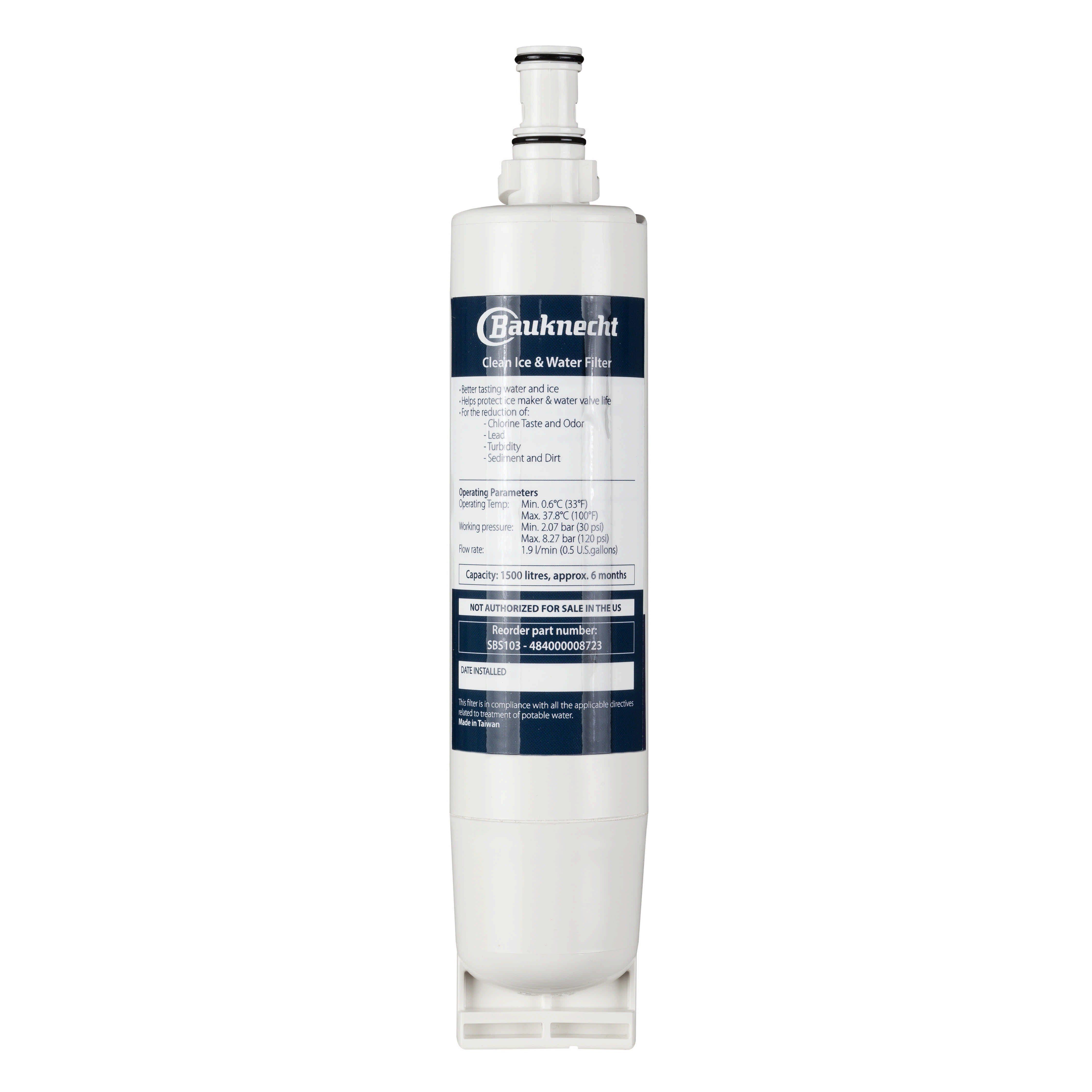 WPRO Wasserfilterpatrone für Bauknecht-Kühlschränke »SBS103«