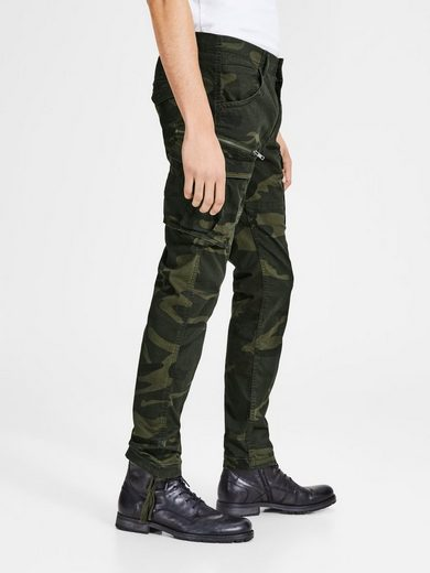 Jack & Jones PAUL CHOP WW FOREST NIGHT CAMO STS Cargohose