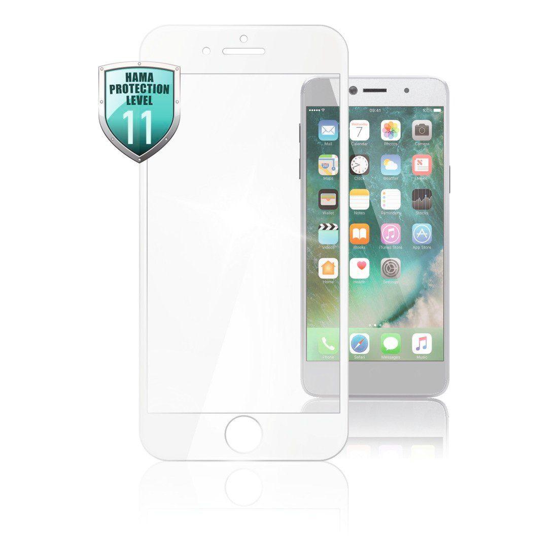Hama 3D-Full-Screen-Schutzglas für Apple iPhone 7 Plus/ 8 Plus, Weiß
