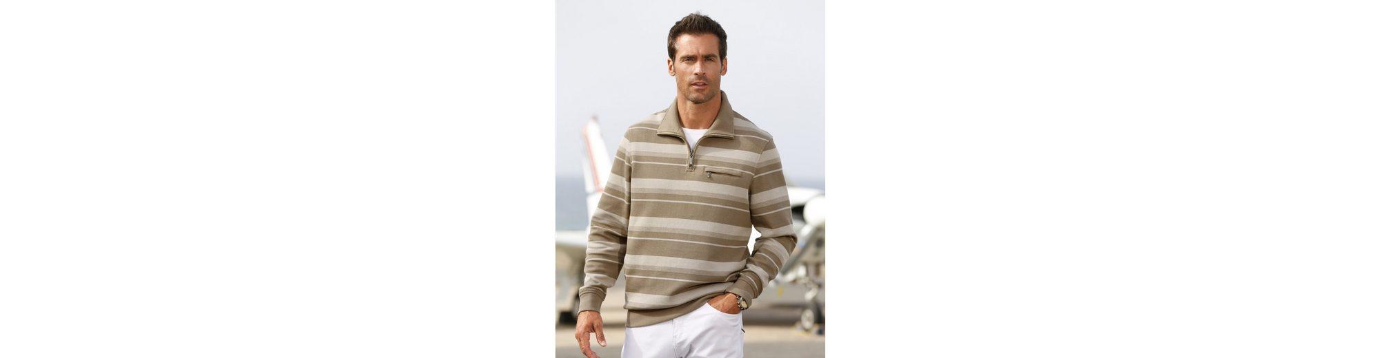 Rabatt Mit Mastercard Manchester Roger Kent Sweatshirt in garngefärbtem Streifenmuster e40HkkYE