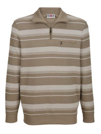 Roger Kent Sweatshirt in garngefärbtem Streifenmuster