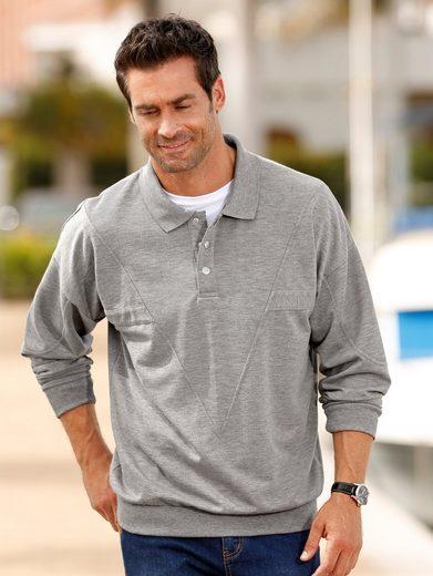 Roger Kent Sweatshirt mit modischen Teilungsnähten