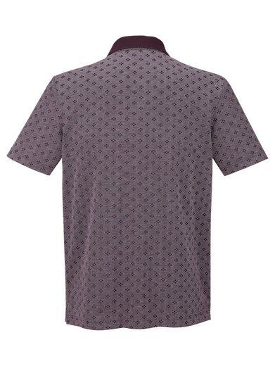 Roger Kent Poloshirt mit Jacquardmusterung
