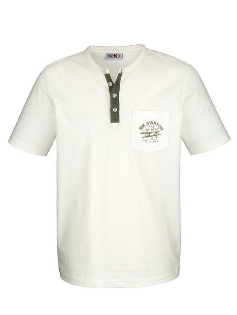 roger kent -  Shirt mit Rundhals und Knopfleiste