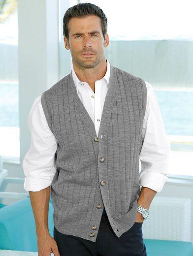 Roger Kent Knit Vest In An Optimal Combinatorial-color