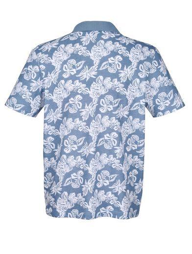 Roger Kent Poloshirt mit Blumendruck