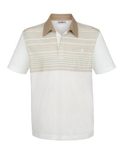 Roger Kent Poloshirt mit Streifendruck