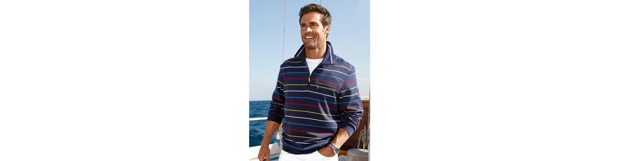 Roger Kent Sweatshirt mit Besätzen in Web-Qualität Verkauf Billigsten dYMy9u8