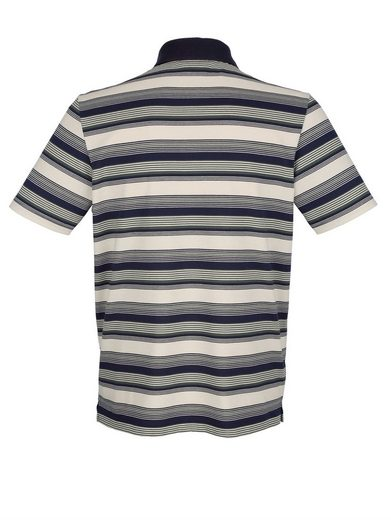 Roger Kent Polo Shirt With Yarn-dyed Stripes Pattern