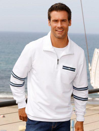 Roger Kent Sweatshirt mit Kontrastbändchen