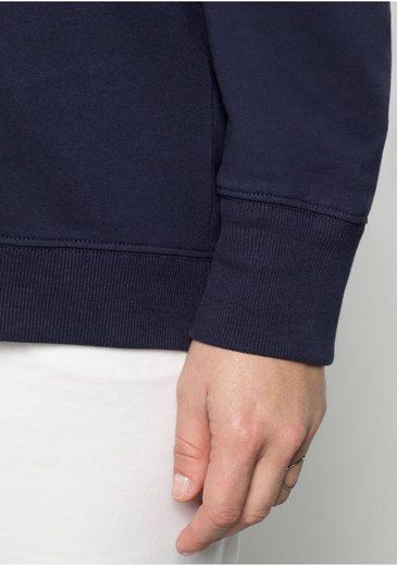 sheego Casual Sweatshirt, Verlängerte Rückenpartie