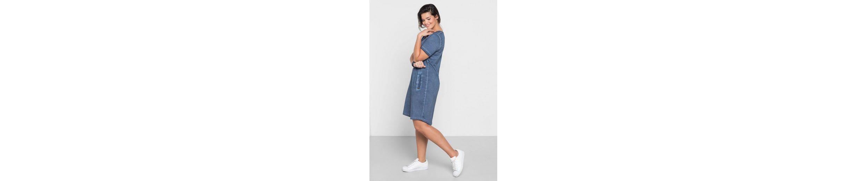 sheego Casual Shirtkleid, Oil-washed, jedes Teil ein Unikat