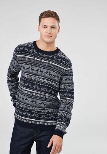 Next Pullover mit Rundhalsausschnitt und Rentiermotiv