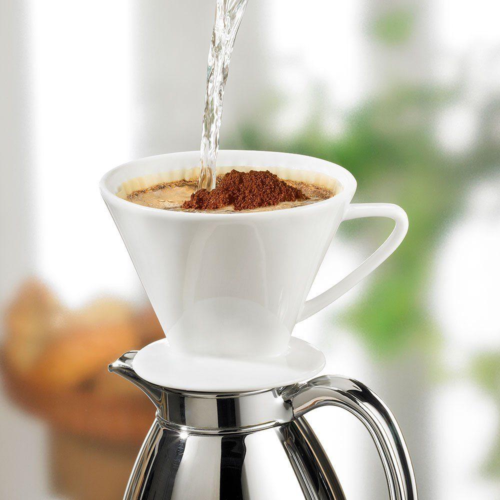 Cilio Kaffeefilter aus Porzellan (Größe 4) + Kaffee grat