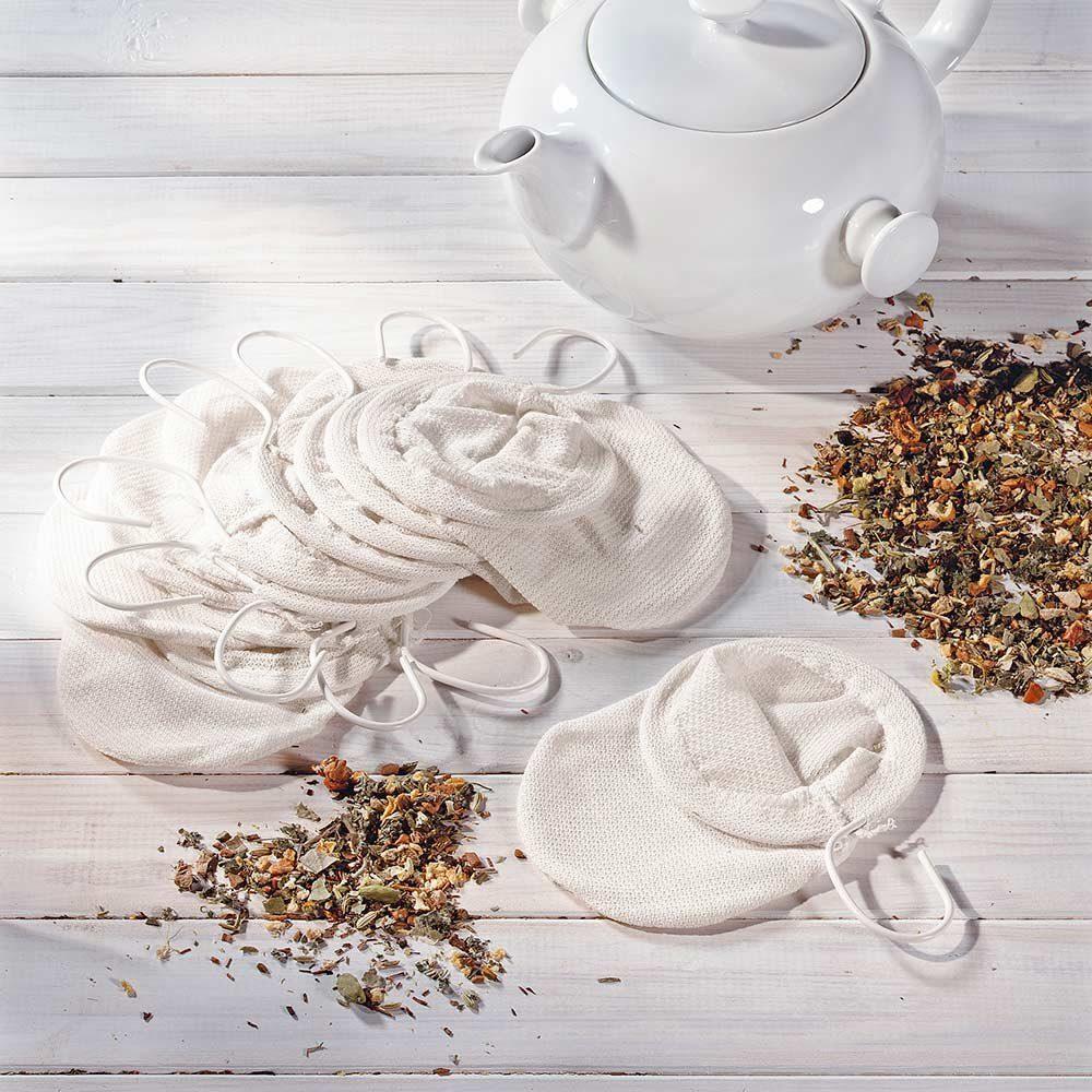 Teefilter aus Baumwolle