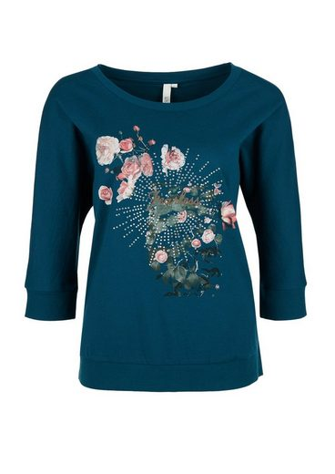 Q/S designed by Bedrucktes Shirt mit Nieten