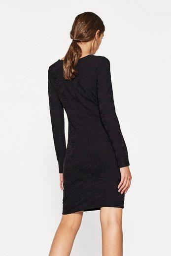 EDC BY ESPRIT Softes Kleid mit Ausbrenner-Struktur