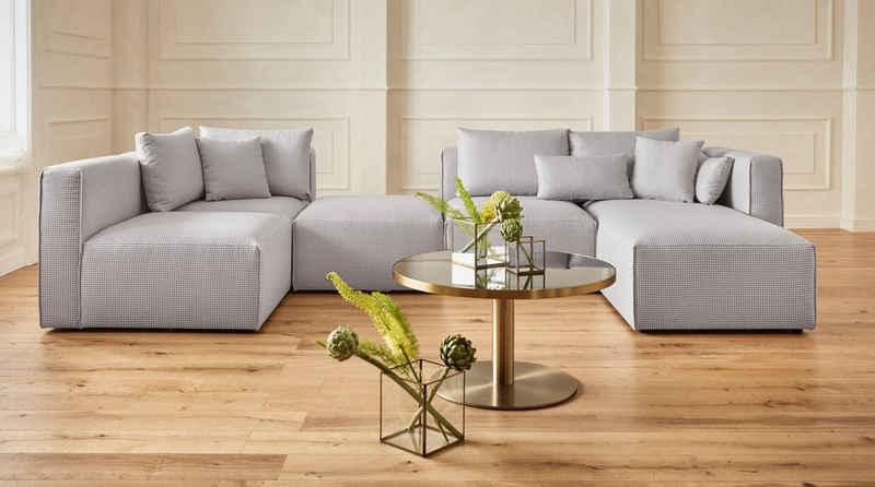 Guido Maria Kretschmer Home&Living Wohnlandschaft »Comfine«, zusammengesetzt aus Modulen, in 3 Stoffen und vielen Farben, Bezug auch in Luxus-Microfaser in Teddyfelloptik