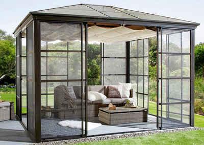 pavillon mit festem dach finest pergola garten aus aluminium with pavillon mit festem dach. Black Bedroom Furniture Sets. Home Design Ideas