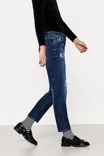 EDC BY ESPRIT Stretch-Jeans mit Pailletten-Destroys
