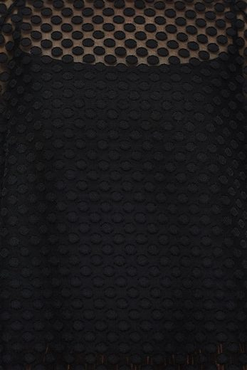 EDC BY ESPRIT Transparente Bluse mit Webtupfen