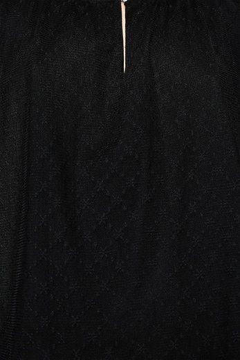 ESPRIT Spitzenbluse mit transparenten Ärmeln
