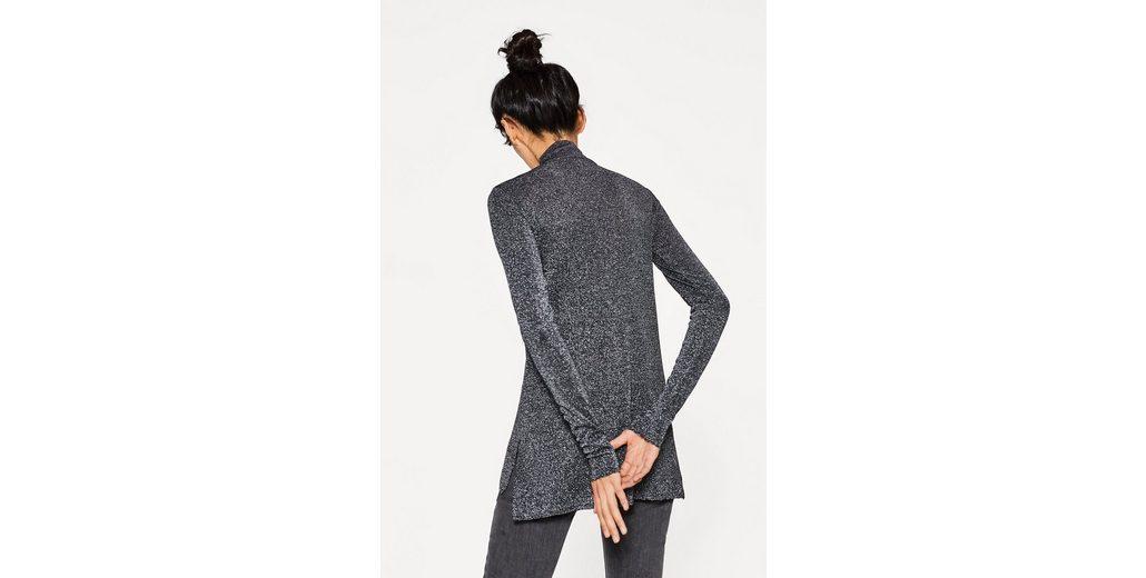 ESPRIT Lurex-Shirt in A-Linie mit Stehbund Kostenloser Versand Shop FCCoDP