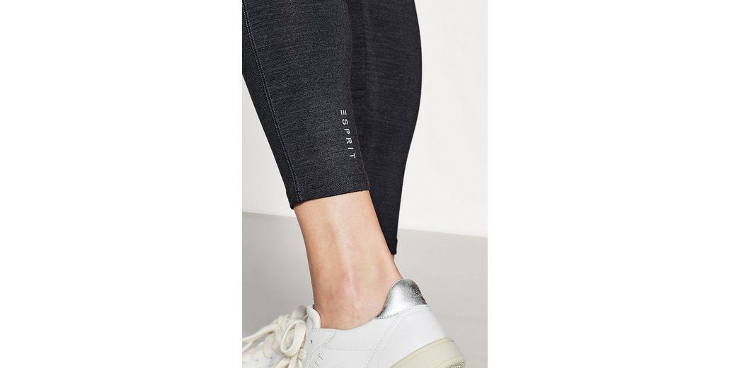 ESPRIT Melierte Leggings mit Neon-Bund, E-DRY