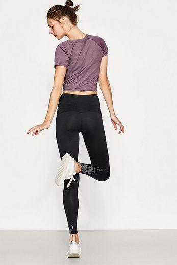 ESPRIT Leggings mit reflektierendem Print, E-DRY