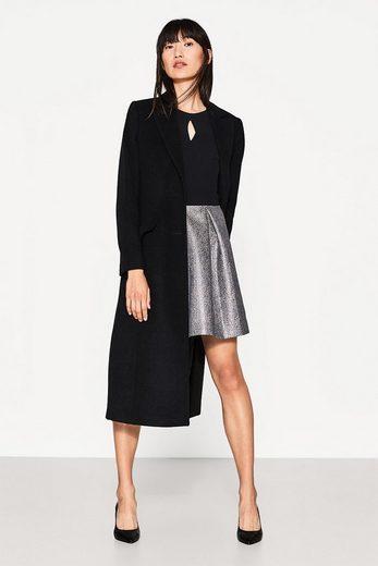 ESPRIT COLLECTION 2-in-1-Kleid mit glänzendem Jacquard-Rock