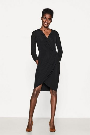 ESPRIT COLLECTION Strukturiertes Jerseykleid in Wickel-Optik