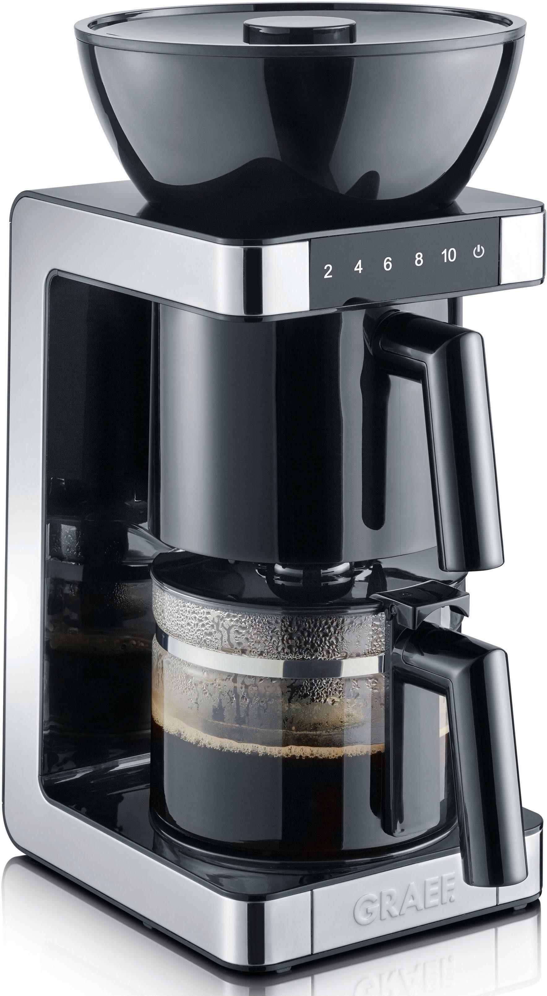 Graef Filterkaffeemaschine FK 702, 1,25l Kaffeekanne, Papierfilter 1x4