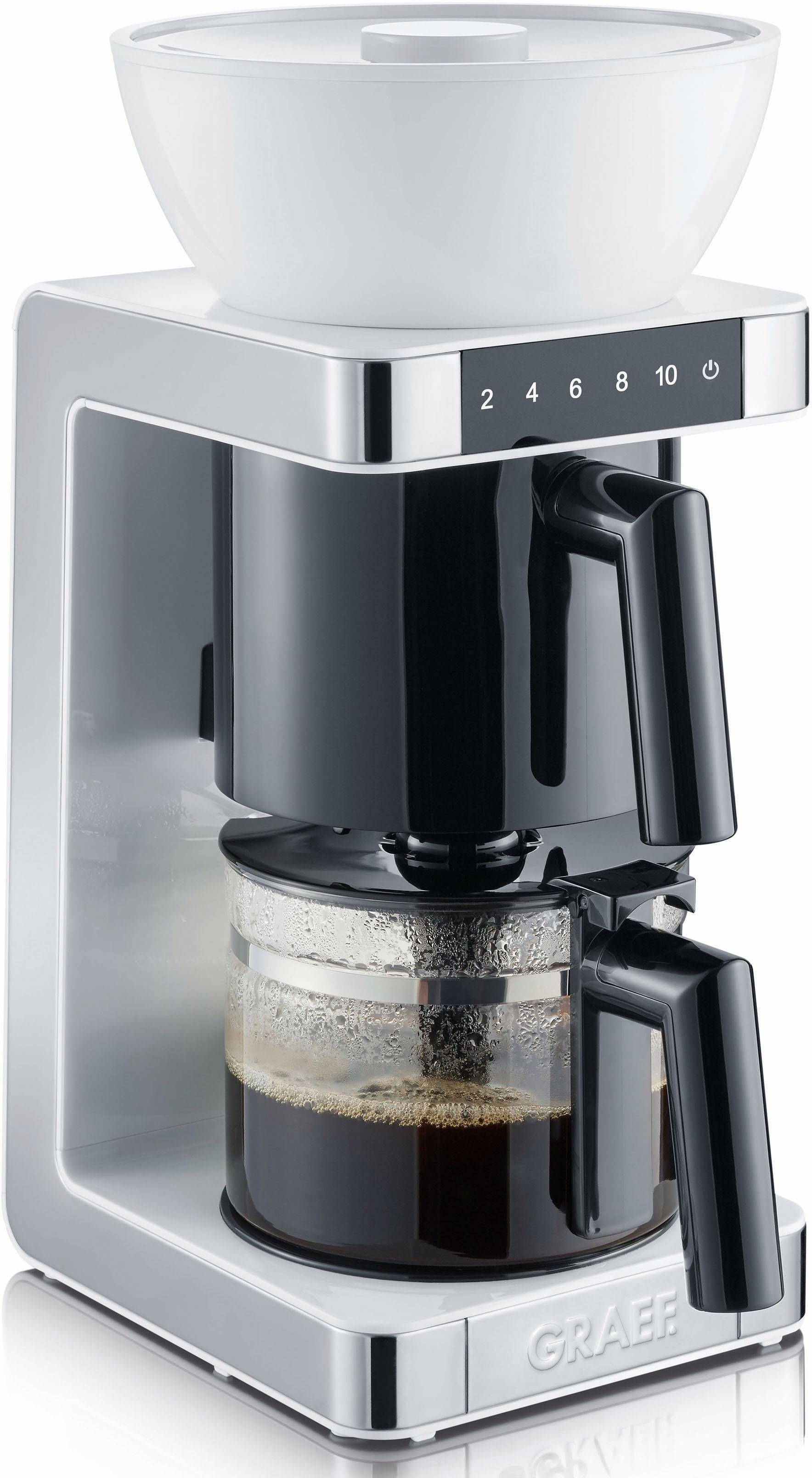 Graef Filterkaffeemaschine FK 701, 1,25l Kaffeekanne, Papierfilter 1x4