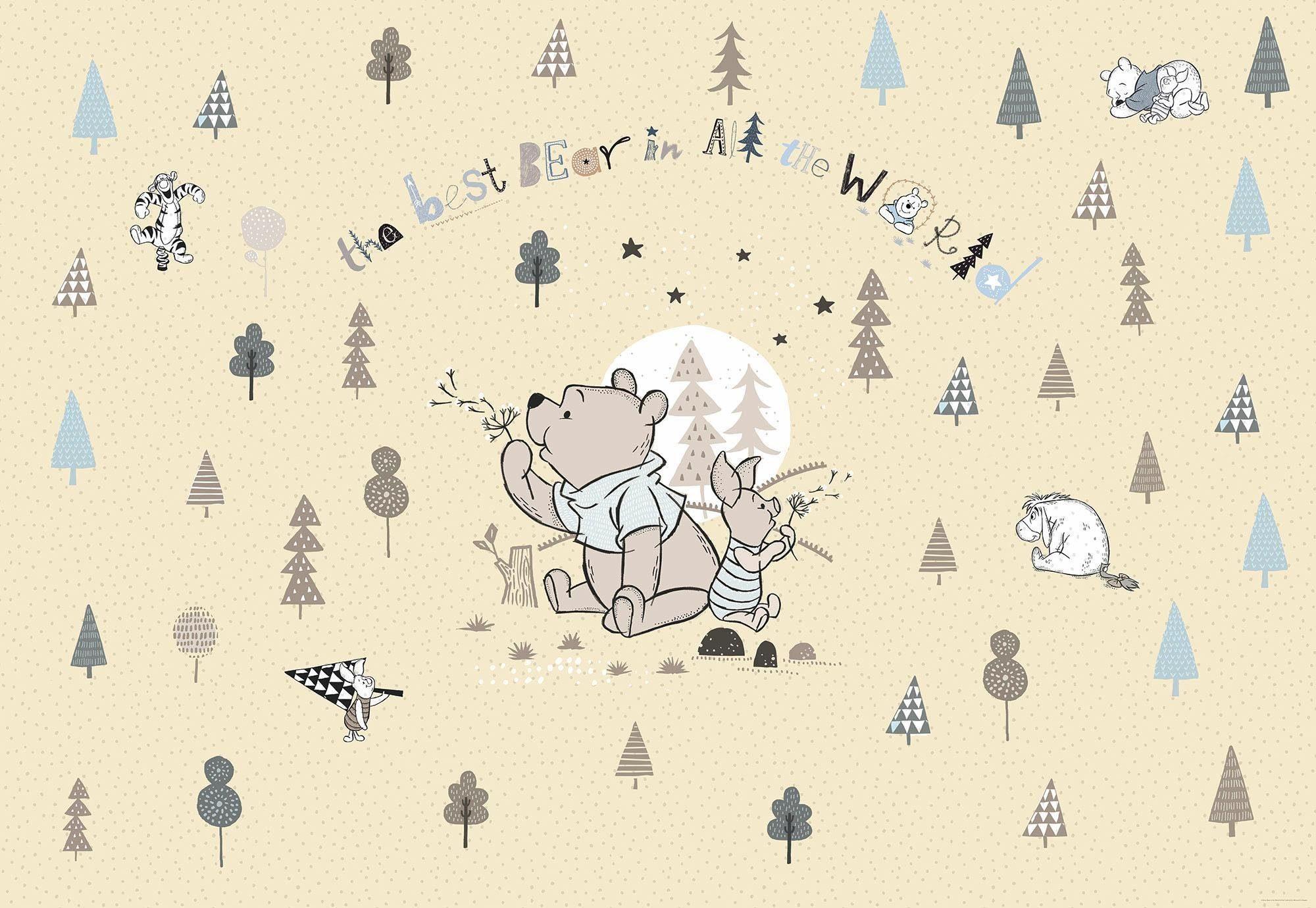 Komar Fototapete »Disney Winnie Pooh Best Bear« 368/254 cm