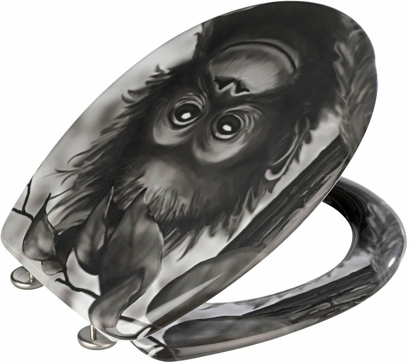 WENKO WC-Sitz »Affe«, Duroplast