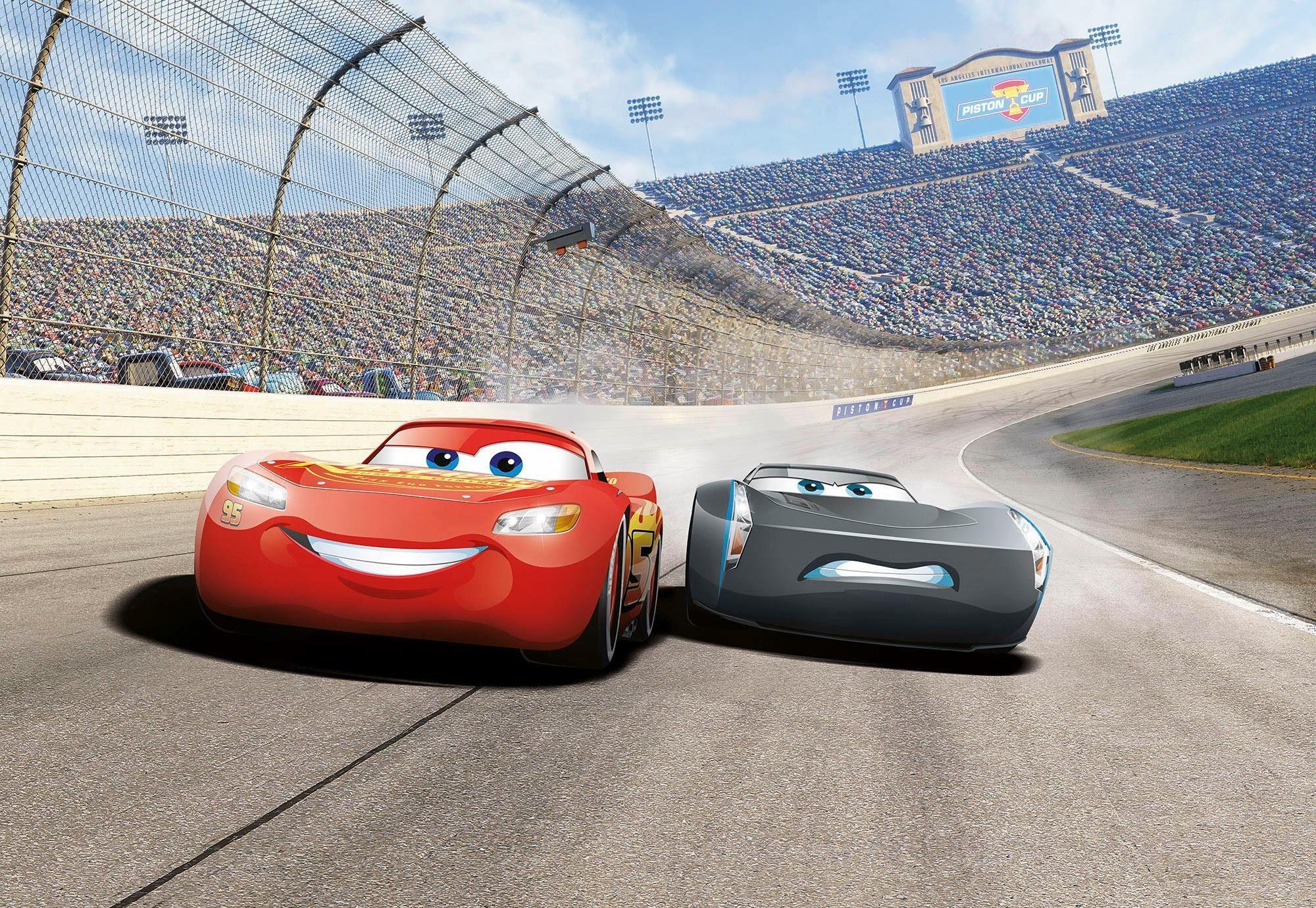 Komar Fototapete »Disney Cars3 Curve« 368/254 cm
