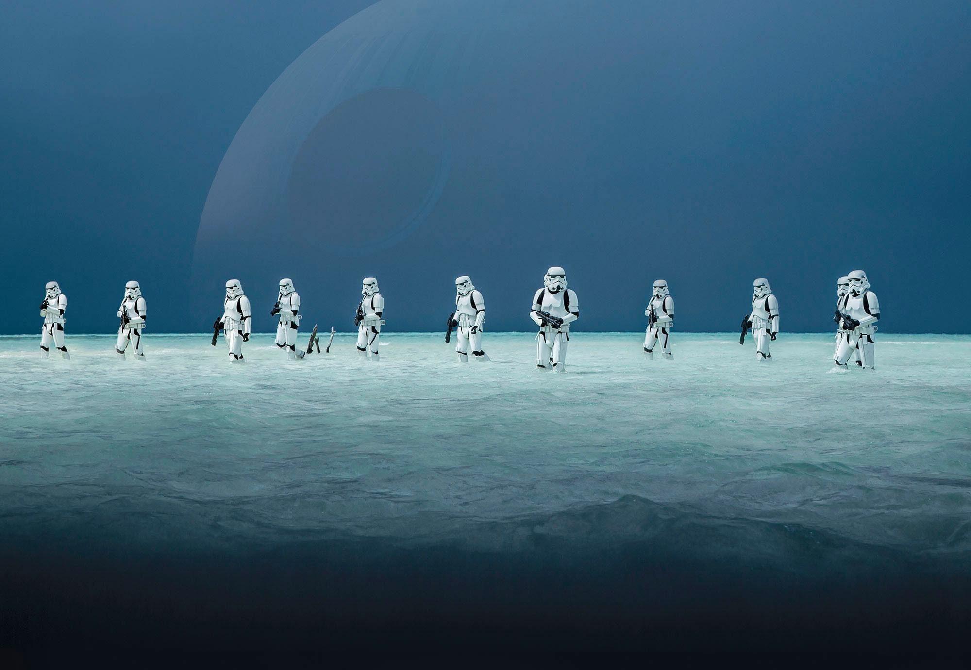 Komar Fototapete »Disney Star Wars – Scarif Beach« 368/254 cm