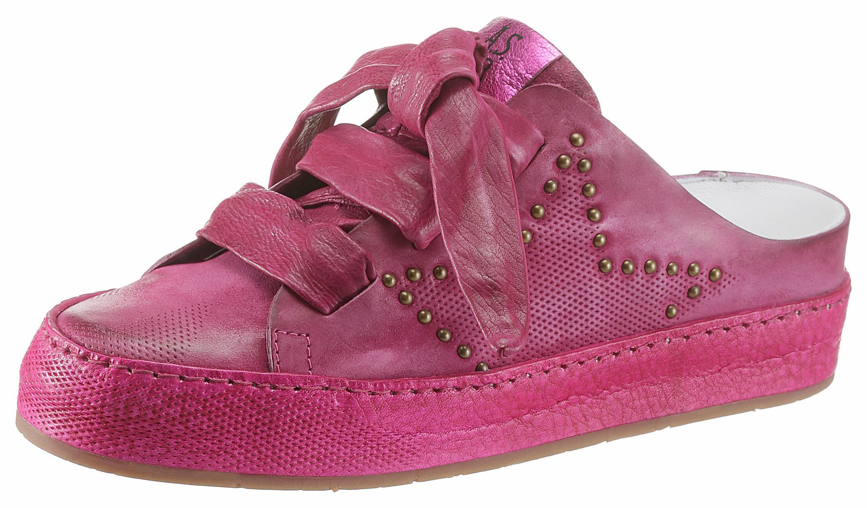 A.S.98 Clog, im angesagten Used Look, rosa, EURO-Größen, fuchsia