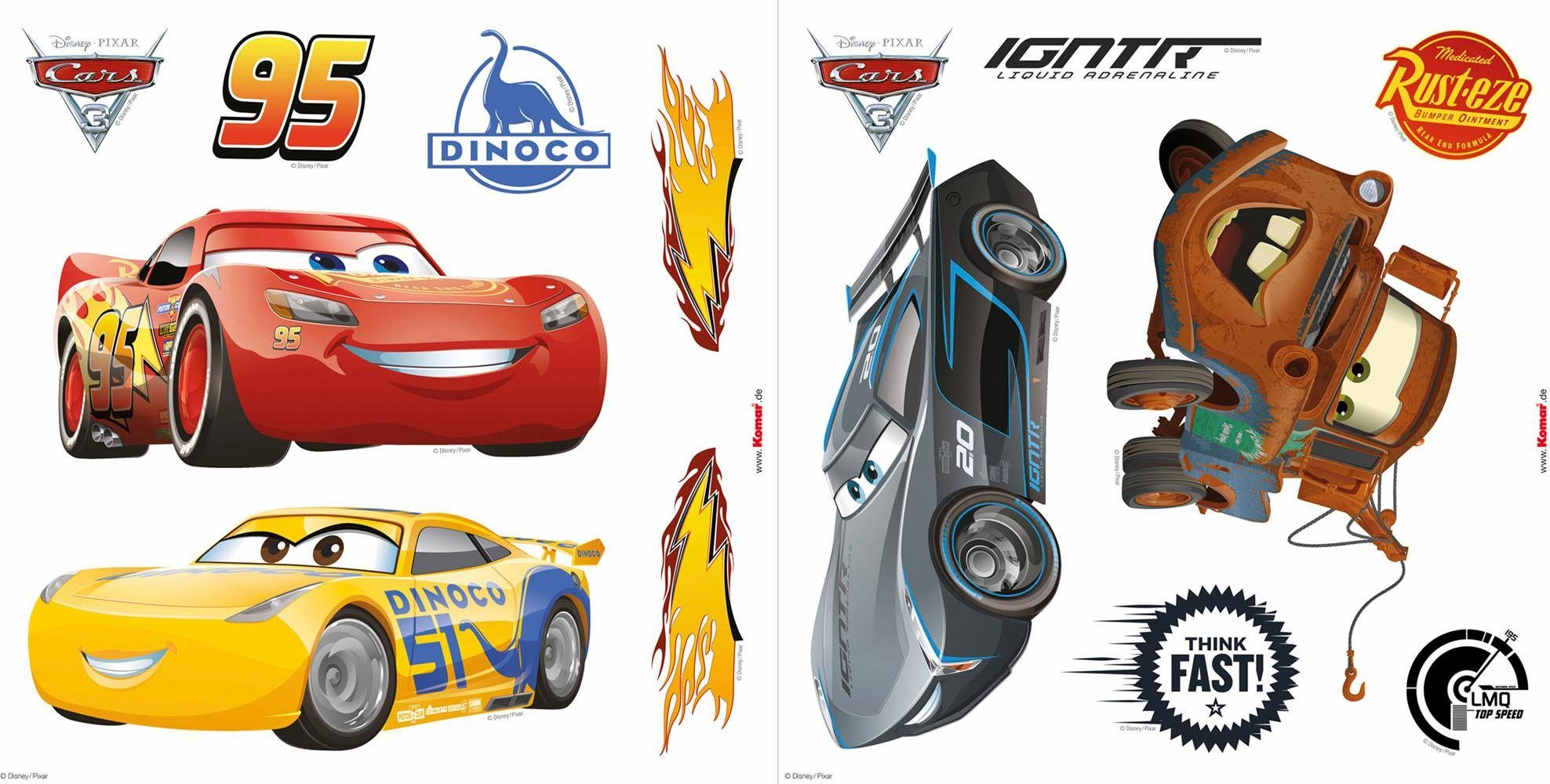 Komar Window-Sticker »Disney Cars3« 31/31 cm