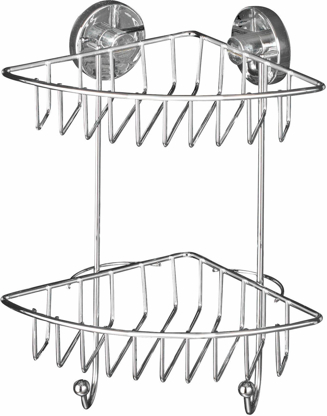 WENKO Vacuum-Loc Eckregal »Bari«, Befestigen ohne bohren
