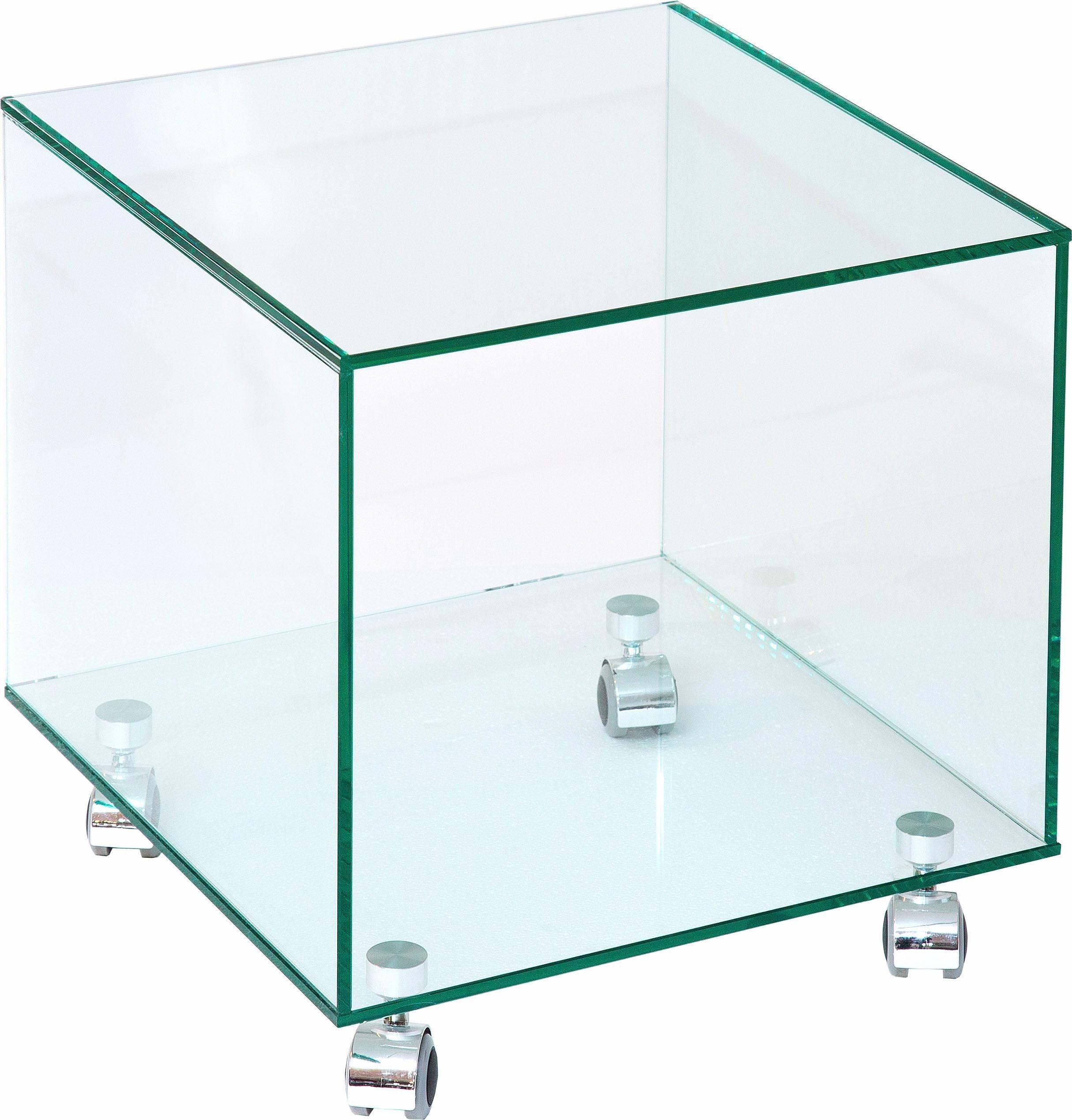 Couchtisch auf Rollen | Wohnzimmer > Tische > Couchtische | Klarglas