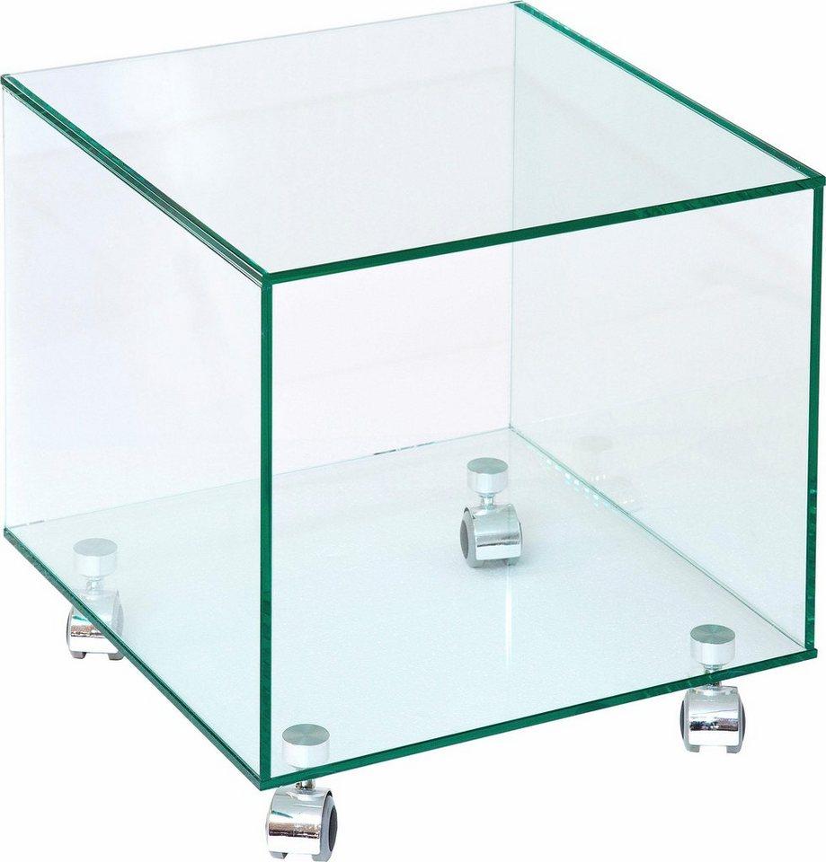 inosign couchtisch auf rollen mit glasplatte online kaufen otto. Black Bedroom Furniture Sets. Home Design Ideas