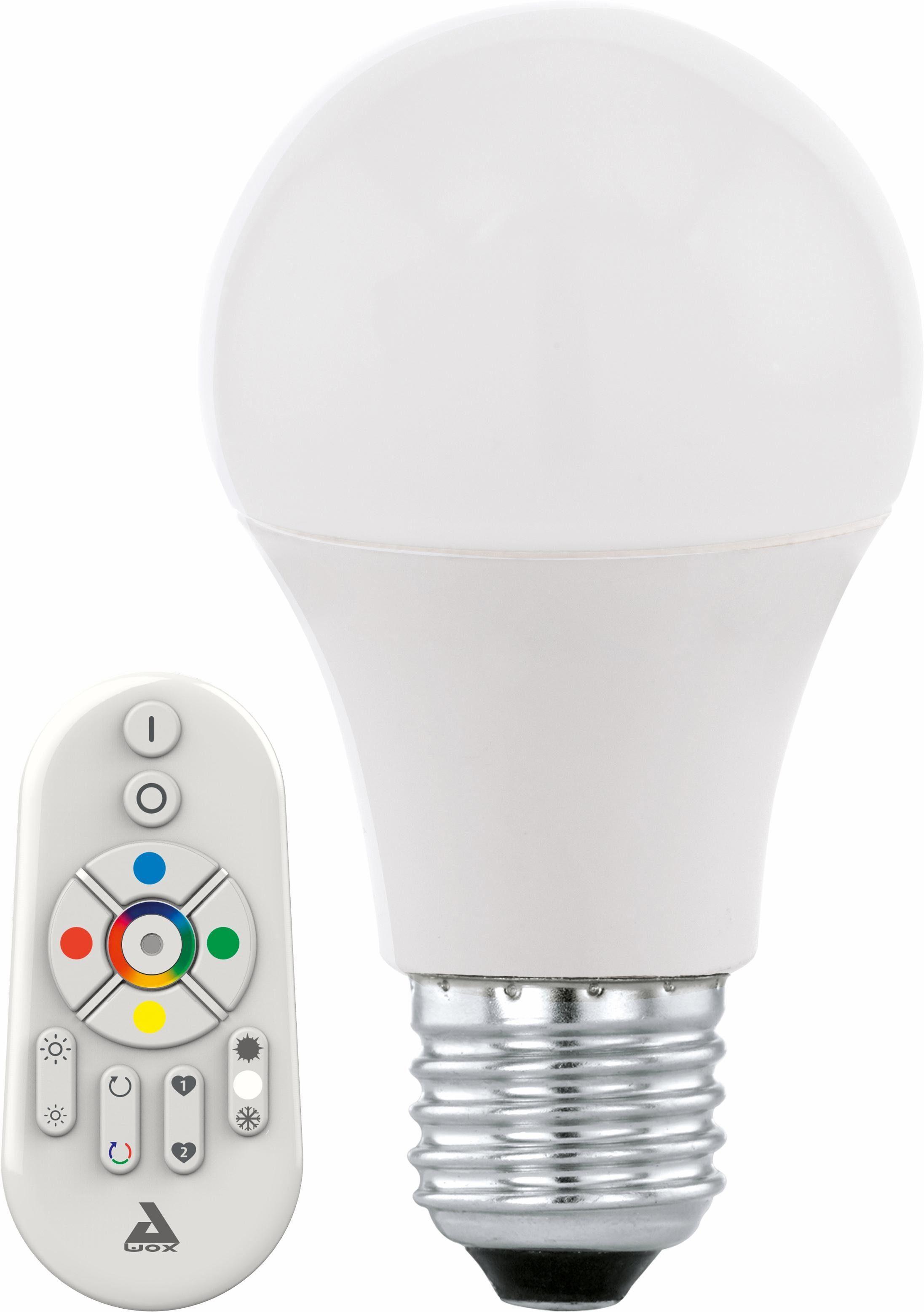EGLO »Eglo CONNECT« LED-Leuchtmittel, E27, 2 Stück, Warmweiß, Neutralweiß, Farbwechsler, Tageslichtweiß, CCT-Lichtsteuerung