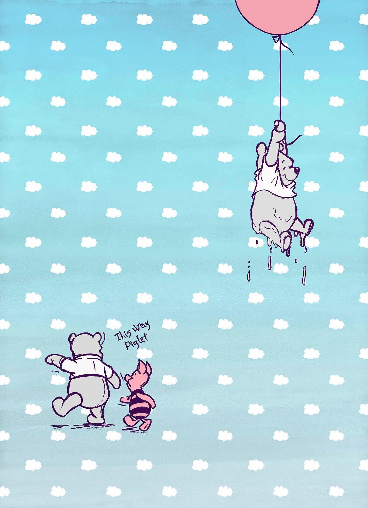 Komar Fototapete »Disney Winnie Pooh Piglet« 184/254 cm
