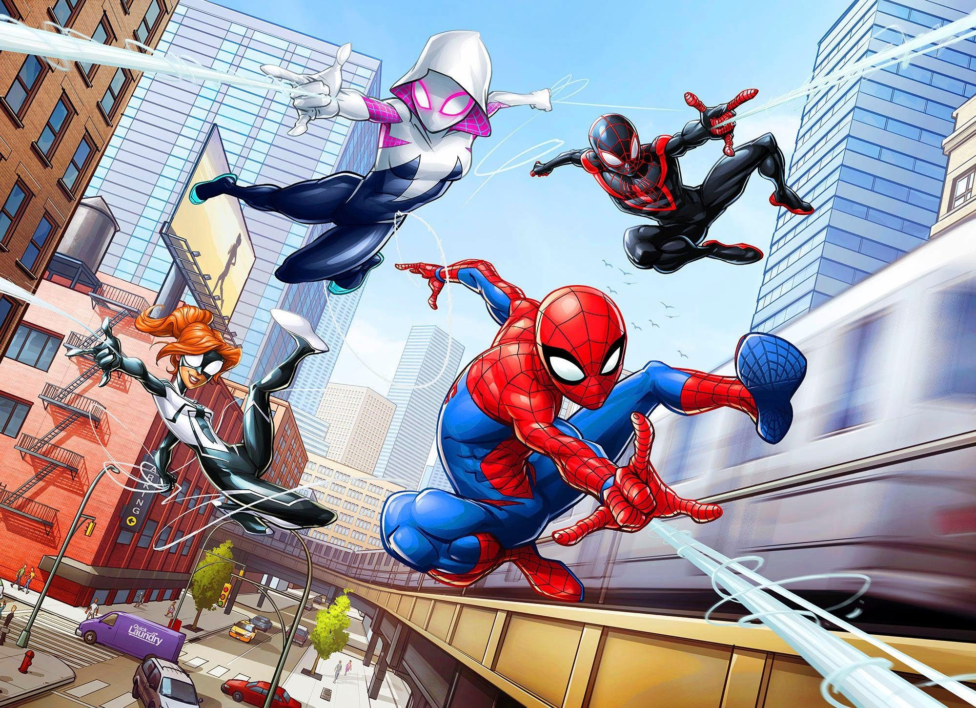 Komar Fototapete »Disney Spider-Man Friendly Neighbours« 254/184 cm