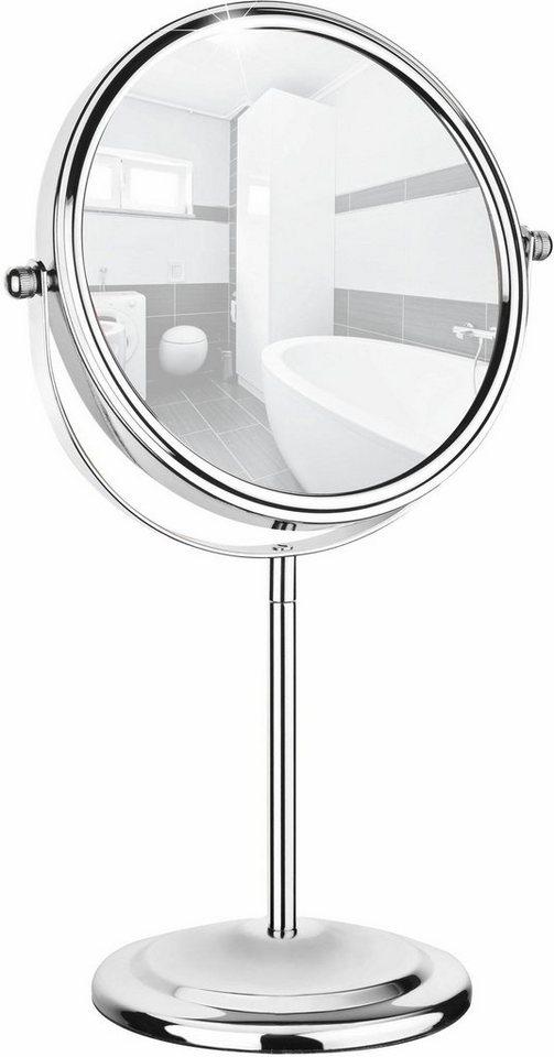 WENKO Kosmetikspiegel »WENKO Kosmetikspiegel, Schminkhilfe, mit 7-facher Vergrößerung« | Bad > Bad-Accessoires > Kosmetikspiegel | Stahl | WENKO