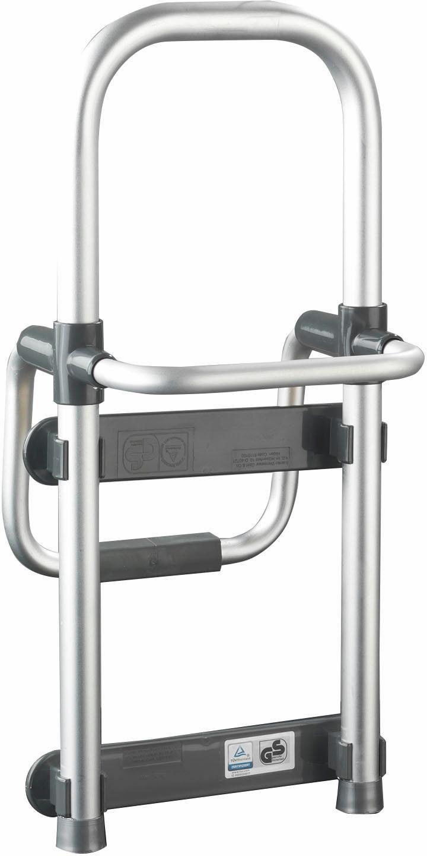 WENKO Badewannen-Einstiegshilfe Secura Silber, verstellbar, 120 kg Tragkraft