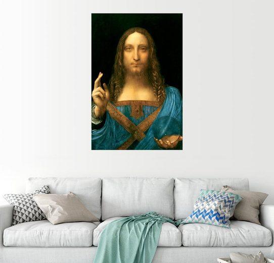 Posterlounge Wandbild - Leonardo da Vinci »Salvator Mundi«