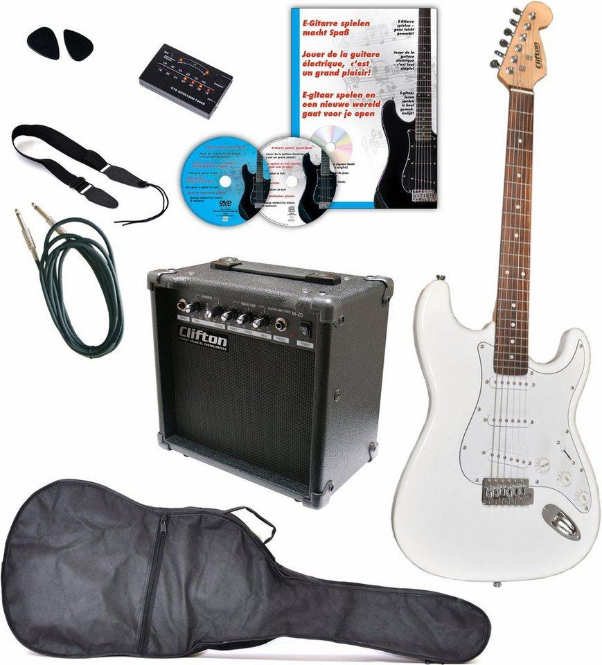 clifton gitarrenkomplettset e gitarren set 10 teilig. Black Bedroom Furniture Sets. Home Design Ideas